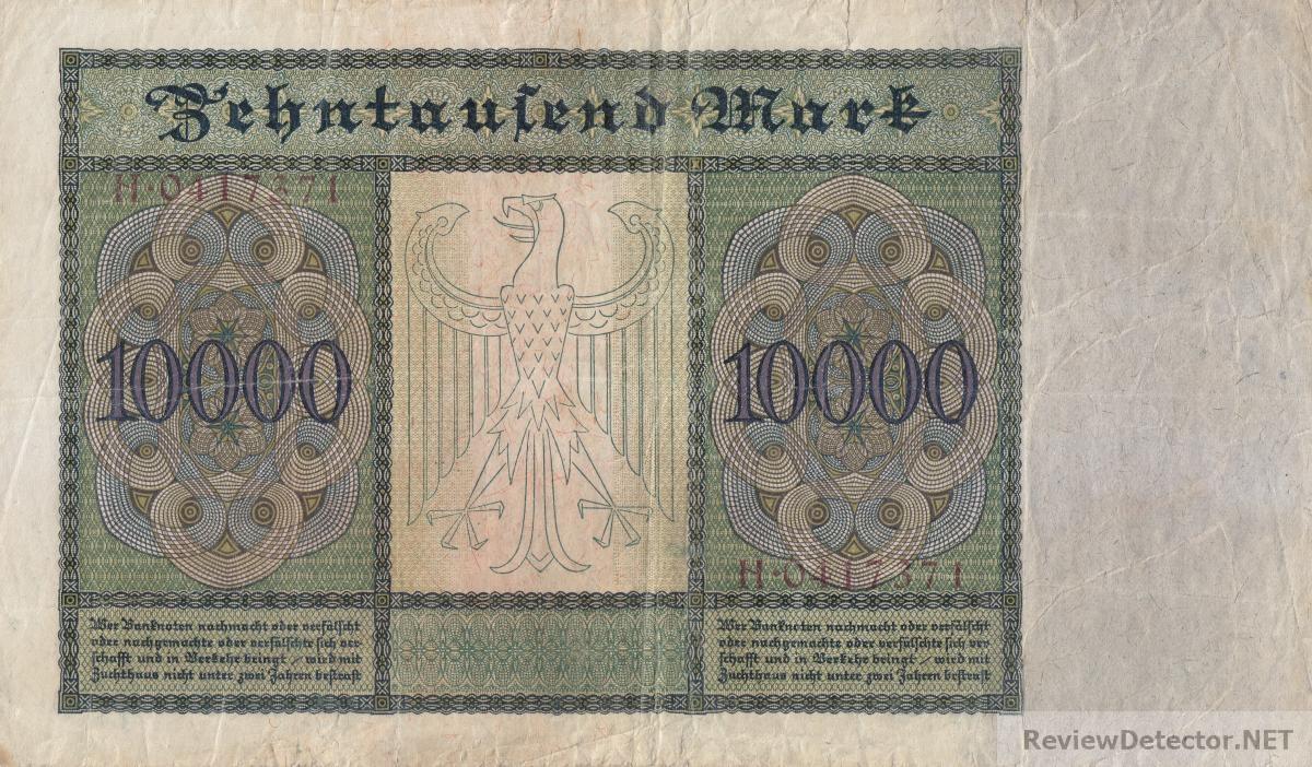 ГЕРМАНИЯ. 10.000 марок 1922. Большие. (350) 2.jpg